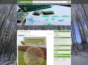 Waldforscher Webseitenscreenshot 2014-11-21